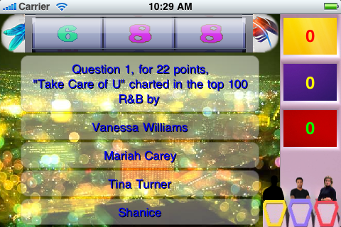 Screenshot R&B Music Game Show