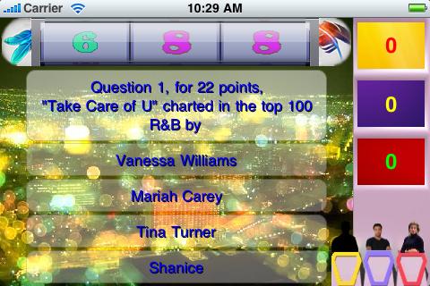 Screenshot R&B Music Game Show