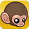 Baby Monkey (going backwards on a pig) logo